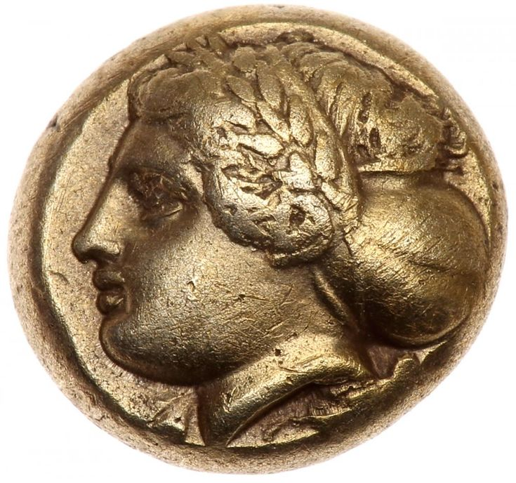 Ionia, Phokaia. Electrum Hekte (2.48 g), ca. 387-326 BC EF Wreathed head of Demeter left, hair in sakkos; below, small seal left. Quadripartite incuse square. Bodenstedt 102 (dies c/β); SNG von Aulock -; BMFA 1920. Estimated Value $1,400 - 1,600 #Coins #Ancient #Silver #MADonC