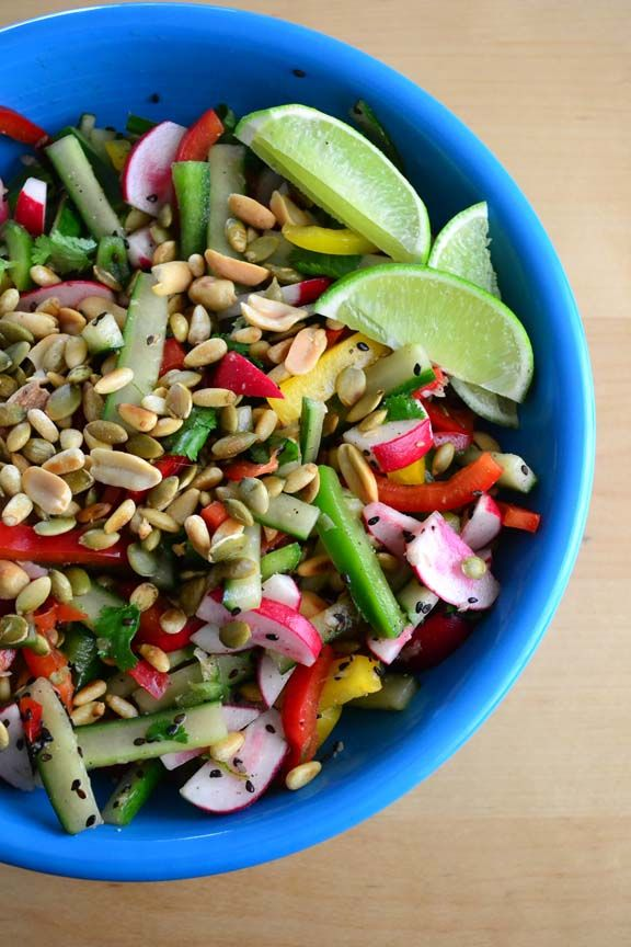 crunchy summer slaw with seeds