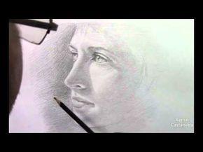 Curso gratis de dibujo, aprende a dibujar un retrato gratis, como dibujar un retrato, curso de dibujo en videos gratis