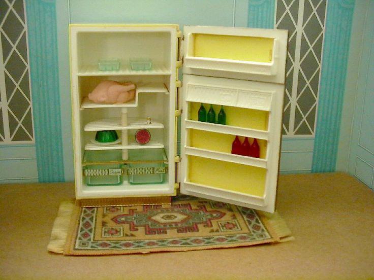 Vintage Petite Princess Patti Dollhouse Miniature Refrigerator Fridge Food  Rug | EBay