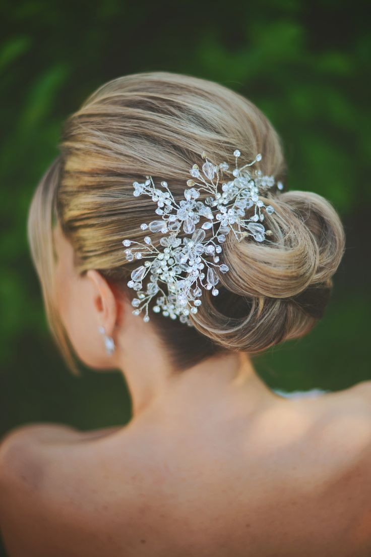 Bridal hair accessories with crystal