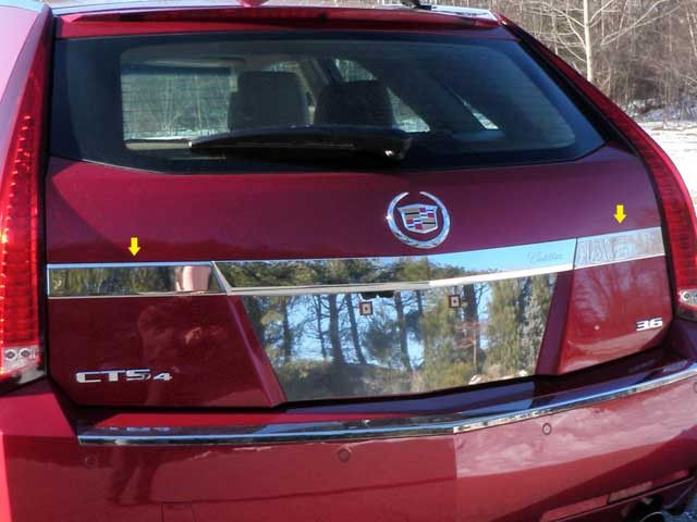 CTS 2010-2013 CADILLAC SPORT WAGON(2 piece License Bar Trim: Above pla – Auto-Truck-Accessories