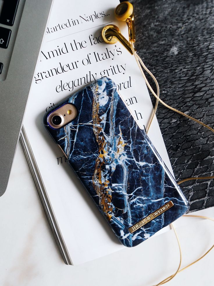 Midnight Blue Marble by lovely @rebfre - Fashion case phone cases iphone inspiration iDeal of Sweden #marmor #blue #gold #navy #stone #fashion #inspo #iphone