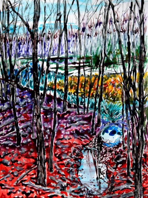 Поздняя осень в Нью-Джерси. 4 четвертая картина этой серии