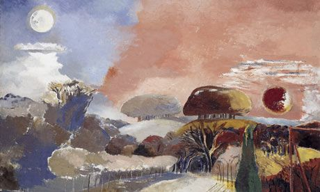 Landscape of the Vernal Equinox (1943) by Paul Nash. - Royal Collection