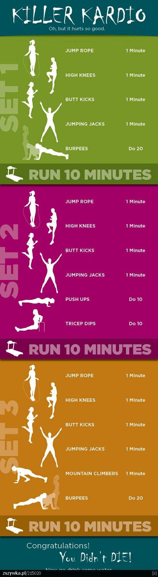 """Cardio workout! I basically pinned this just because it says """"Congratulations…                                                                                                                                                                                 More"""