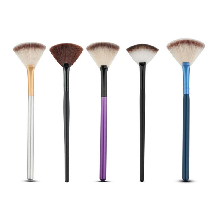 1pc Soft Nylon Hair Large Fan Makeup Brush Big Fan Shape Face Blush Powder Foundation Cosmetics Make Up Brush Beauty Tool