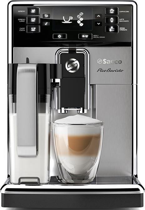 Saeco PicoBaristo HD8927/01  Saeco PicoBaristo HD8927: Krachtige espressomachine met melkopties Iedere dag een lekker kopje koffie met de Saeco PicoBaristo HD8927/01! Deze machine zit vol mogelijkheden; van strak en zwart naar zacht en romig. De Saeco PicoBaristo HD8927 zet 5000 heerlijke kopjes koffie zonder te ontkalken dankzij de AquaClean-filter. Eén AquaClean-filter inbegrepen. Je varieert je koffiesmaak met maarliefst 10 maalinstellingen en de smaak is altijd maximaal dankzij de 100%…