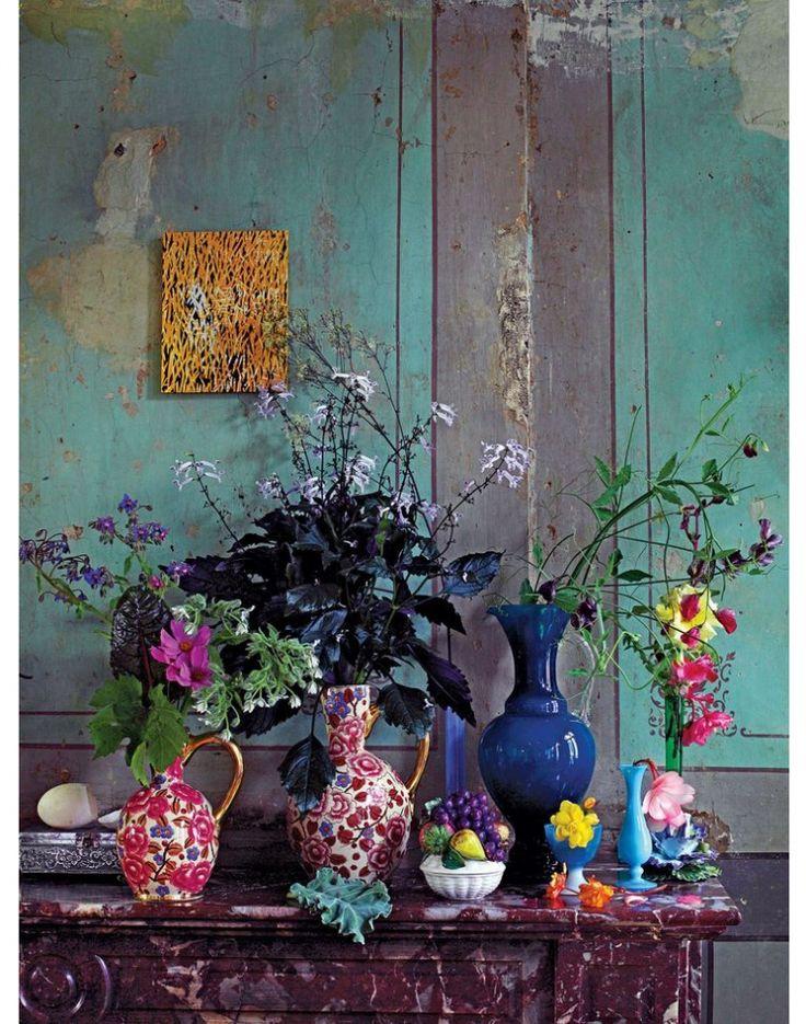 25 beste idee n over muur bloemen op pinterest - Decoratie schilderij wc ...