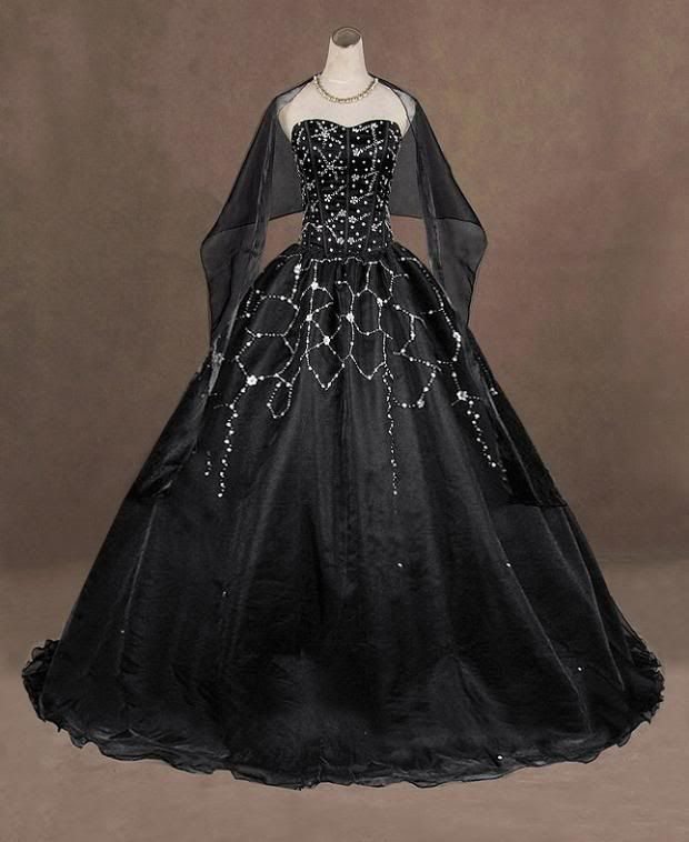 Black And White Gothic Wedding Dresses 2015 Custom Made: Best 25+ Black Wedding Gowns Ideas On Pinterest