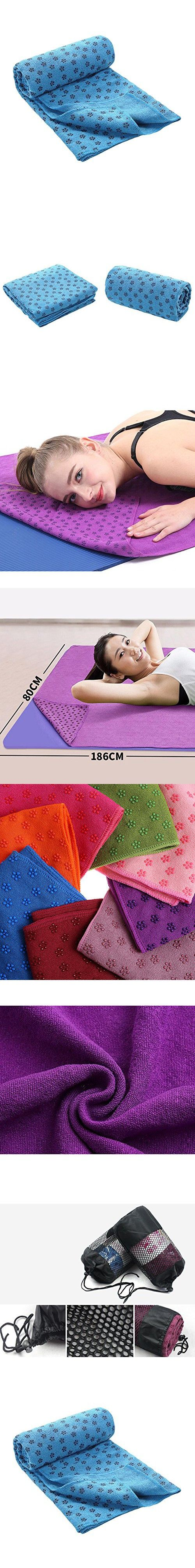 WANGQIANG Yoga Mat Towels Non Slip PVC Resin Particles With Carry Bag Machine Washable