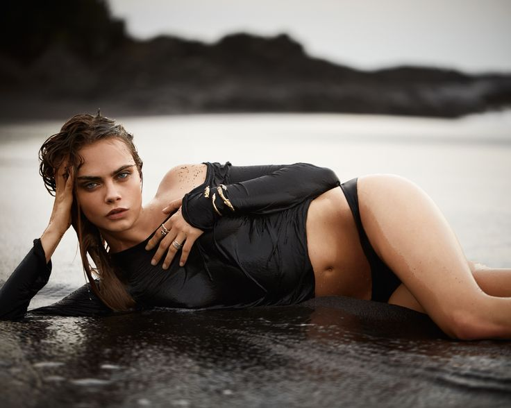 Sebastian Faena - Cara Delevingne - John Hardy Jewellery - Beach sunset editorial fashion shoot, dark, moody, edgy photography.