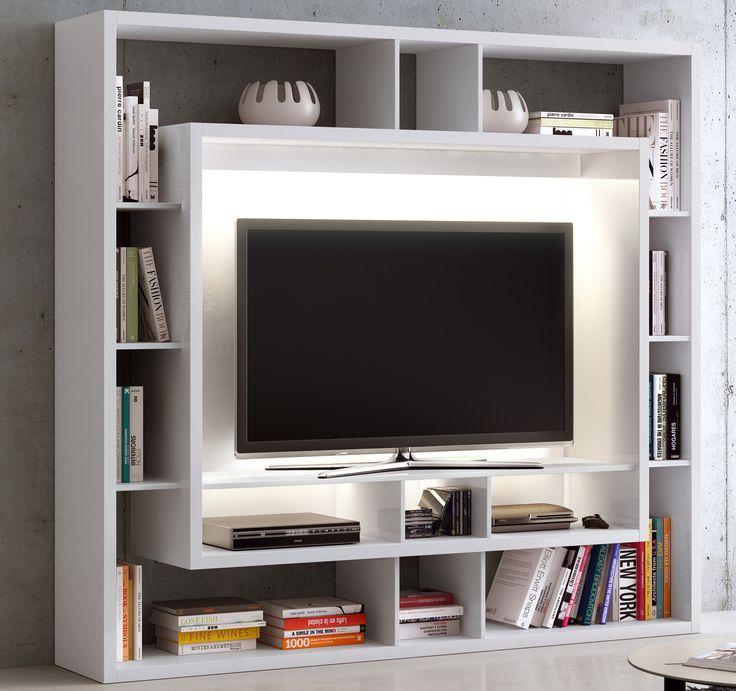 Tv Regal Tv Hifi Möbel Tv Wände Weiß Beleuchtung Optional