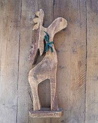 Country Nik Naks made from reclaimed timber, all hand made in Lincolnshire UK. Reindeer / Moose large wooden item, planning to cover with Christmas decorations for our windowsil. Available online via PayPal.
