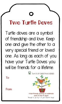 12 Days Post 2  Two Turtle Doves Tag