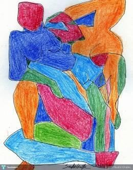 """""""Abstract Figure"""" #Creative #Art in #painting @Touchtalent"""