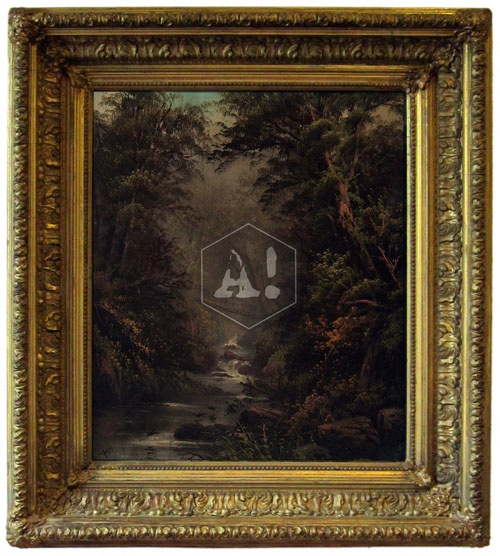 August Strindberg 1849-1912  Oil on paper, glued on cardboard, 47 X 39 cm, Sign. I Harm/A