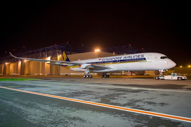 Singapore Airlines A350 XWB Paint Job Completed