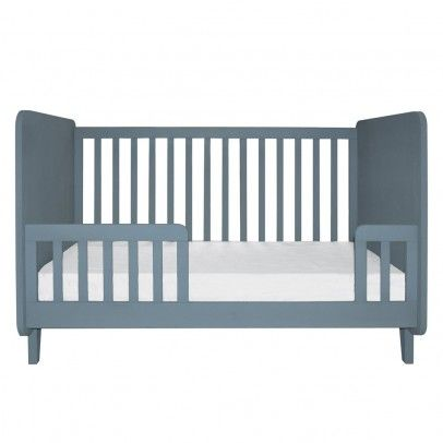 Laurette Conversion Kit for Kiss Curl Bed 70x140 cm - Hand painted, finish in semi matt lacquer, Allows Accroche-coeur cot to be converted into junior bed (bed sold separately) * Fabrics : Beech Wood * Width : 140 cm, Height : 38,5 cm, Thickness 2,3 cm.  http://www.MightGet.com/january-2017-13/laurette-conversion-kit-for-kiss-curl-bed-70x140-cm-.asp