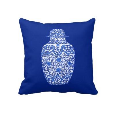 B&W Ming Ginger Jar.Gingers Jars, Pagoda Design, Cute Pillows, Pink Pagoda, Living Room, Ming Gingers, Design Pillows, Jars Pillows, Blue And White