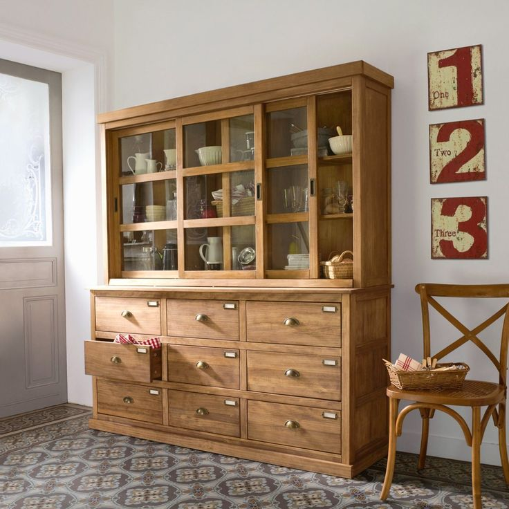Buffet meuble de mercerie 9 tiroirs lunja la redoute for La redoute meuble