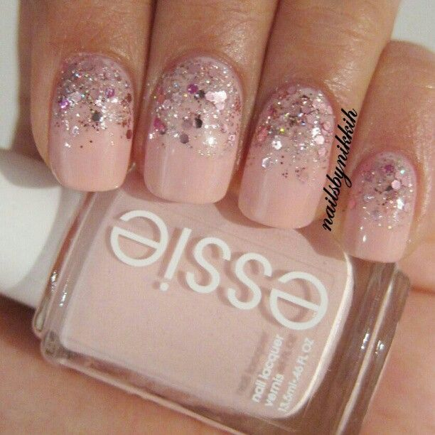 Essie 'fiji', OPI 'pink yet lavender' and 'you glitter be good to me'. - @nailsbynikkih