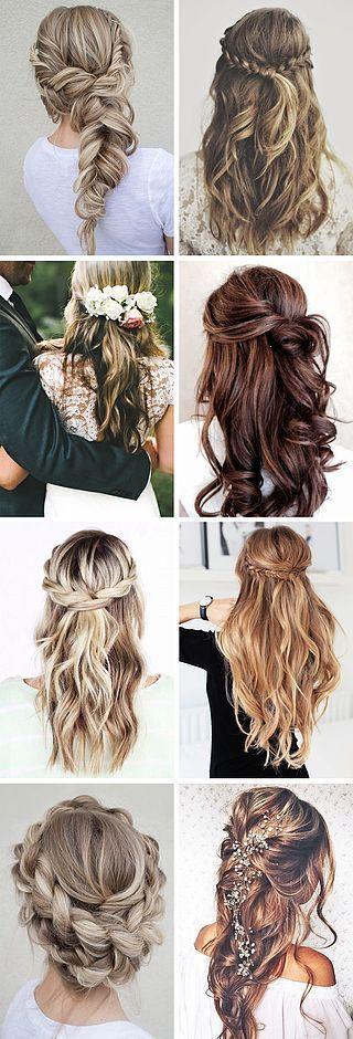 Gallery: half up half down bridal hairstyles