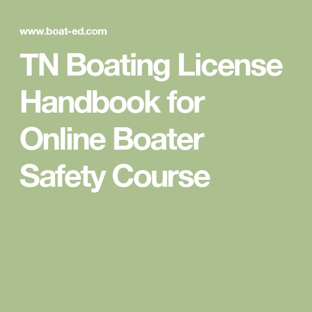 TN Boating License Handbook for Online Boater Safety Course