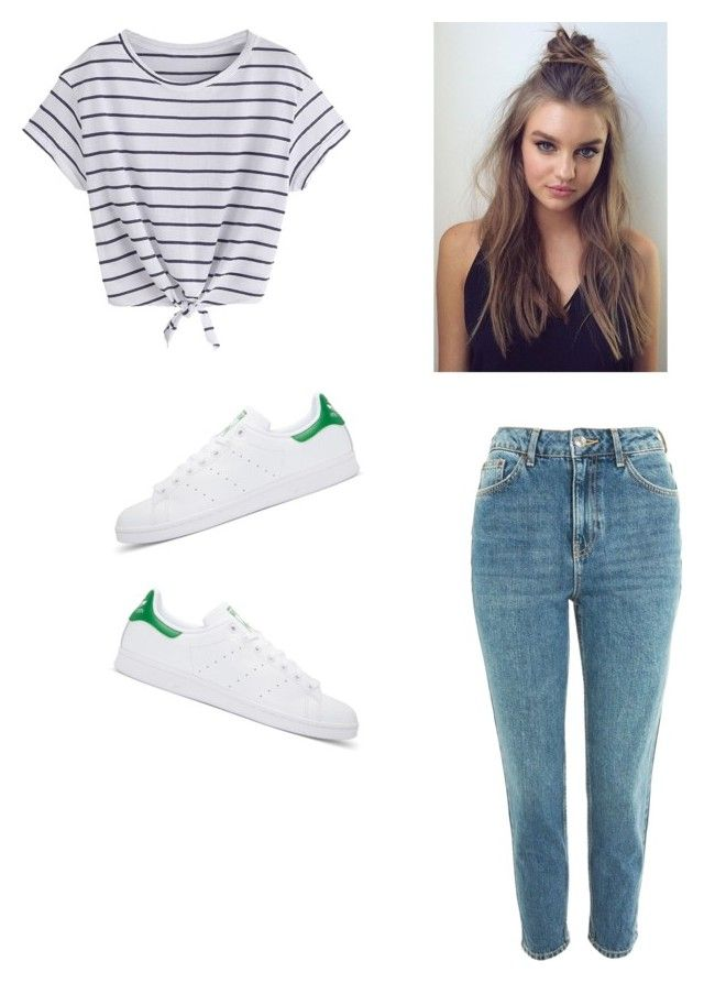 """Untitled #16"" by haileymagana on Polyvore featuring Topshop and adidas Originals"