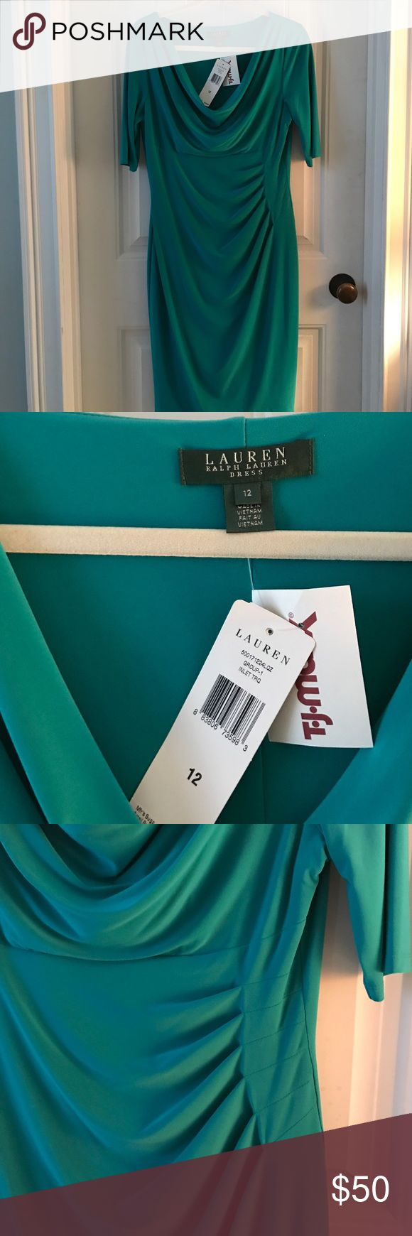 Lauren by Ralph Lauren Dress Gorgeous vibrant color. This fit is super flattering, and the 3/4 sleeves make it versatile. Perfect for work, dinner date, or weddings❤️ Lauren Ralph Lauren Dresses Midi