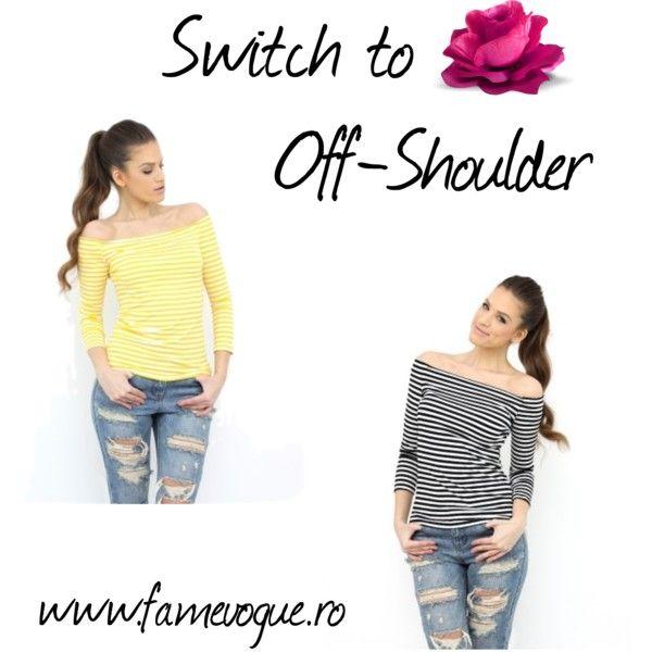 Off-Shoulder Tops by famevogue on Polyvore