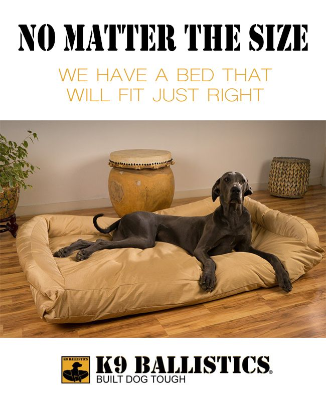 Extra Large Great Dane Dog Beds by K9 Ballistics