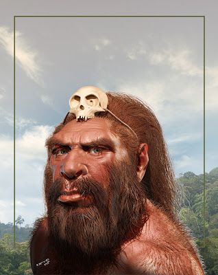 Between 300,000 and 400,000 years ago, Homo heidelbergensis by B. Petry