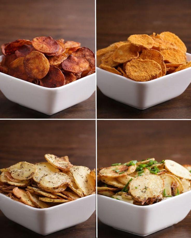 Baked Potato Chips 4-Ways