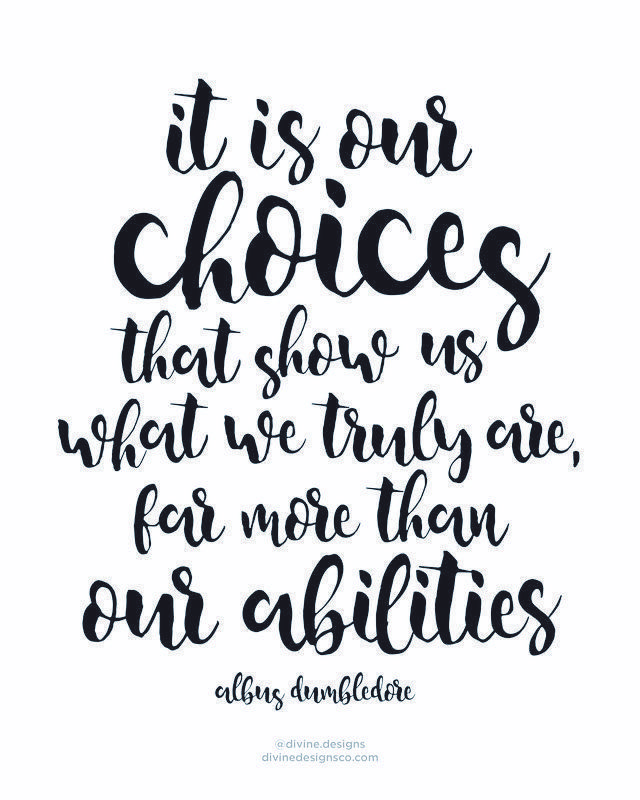 Choices Show What We Truly Are Harry Potter Citacoes Frases Motivacionais Frases