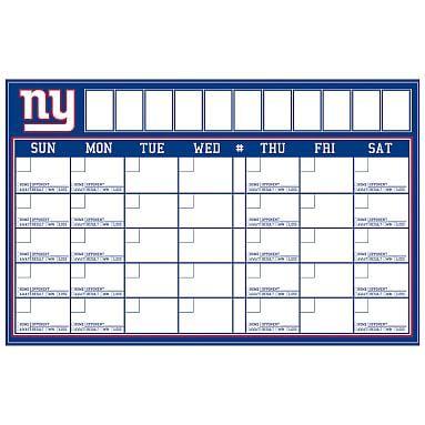 NFL Calendar, New York Giants