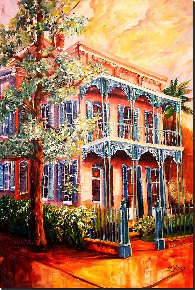 IN THE GARDEN DISTRICT OF NEW ORLEANS.  To purchase this painting please visit Diane Millsap's website at:  www.neworleans-art.net