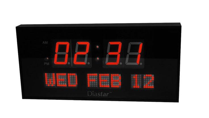 Large Digital Clock LED Big XL Oversized Modern Display Time Date AM PM Electric #Contemporary #clock #bedroom
