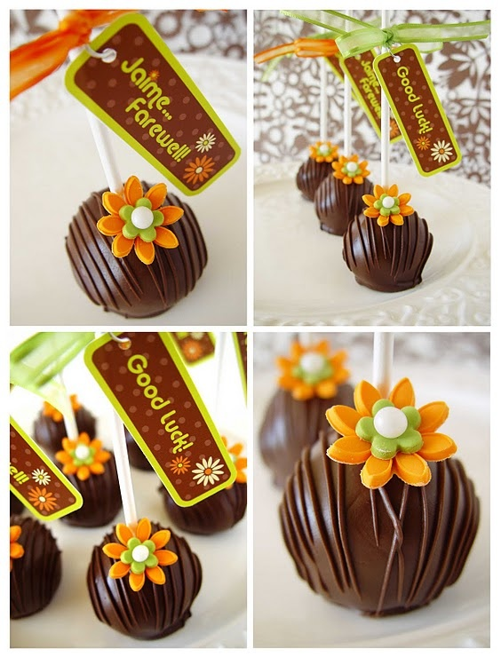 Now cake pops do not impress me at all, on any level BUT I thought these were done quite nicely- Astrid Yrigollen