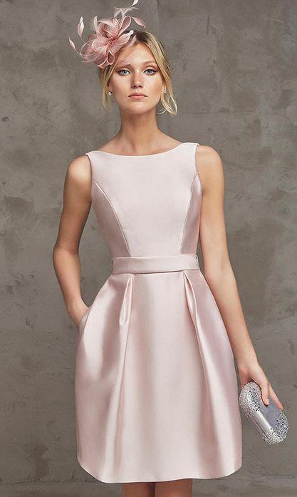 Short dress Bodice with bateau neckline  nya kvinnliga modeller klänning