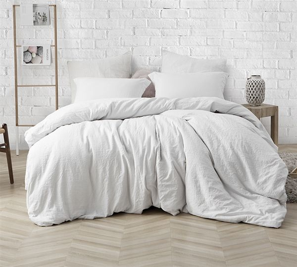 Ultra Thick Oversized King Xl Bedding Stylish Farmhouse White Comfy King Comforter High Quality Natural Loft White Comforter Bedroom White Comforter Comfortable Bedroom