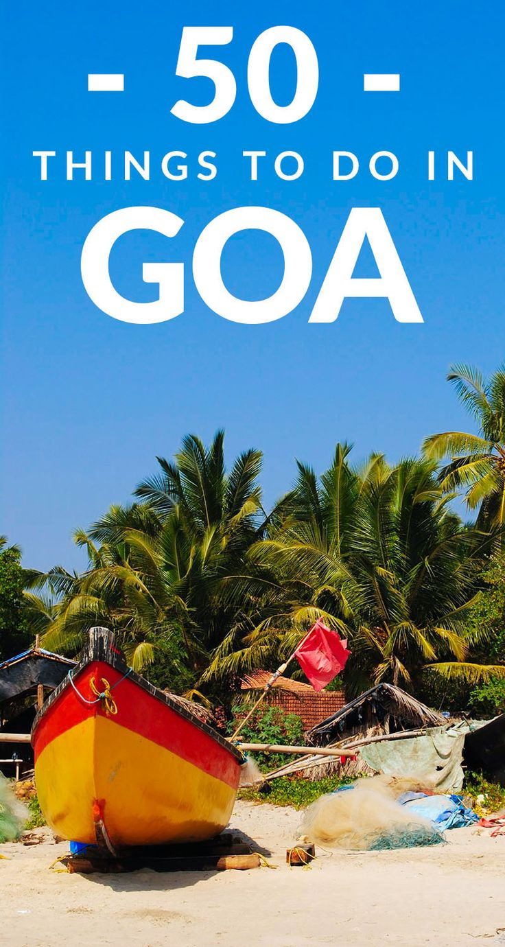 Goa is a MUST visit for anyone traveling India. From its beaches to its party scene to its hippie vibe and more, here are FIFTY incredible things to do in Goa. #goaindia #goatravel #indiatravel