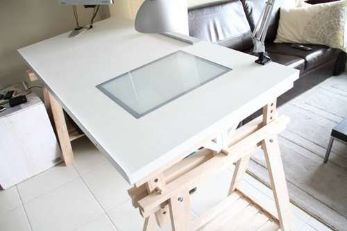 Ikea Drawing Table With Lightbox Home Studio Pinterest Ikea Hacks The O 39 Jays And Lightbox
