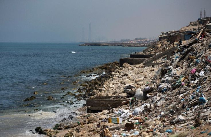 Dozens of people have been treated after swimming along the Gaza Strip's filthy Mediterranean coastline in the past two months
