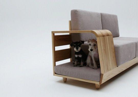 Sofa i domek dla psa
