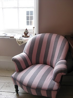 #JackWills Pink and Blue stripe armchair