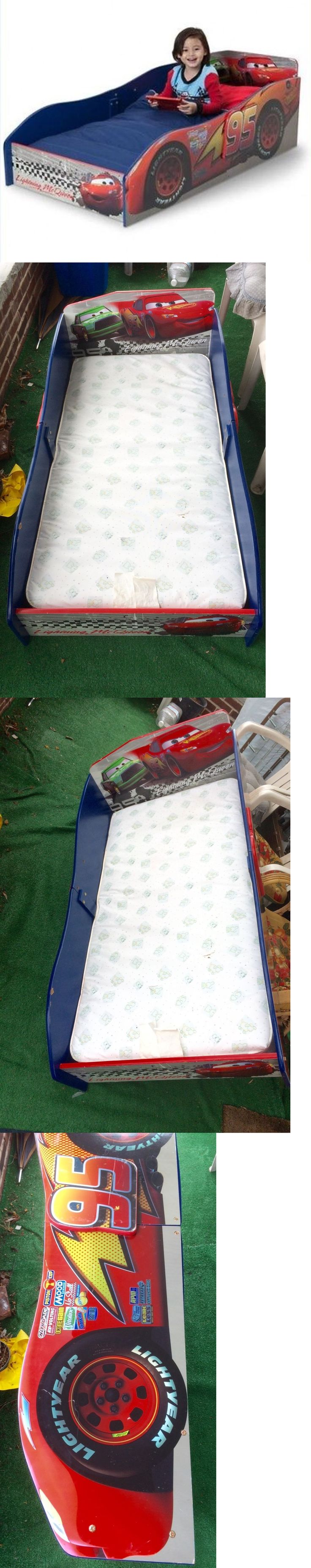 Kids Furniture: Kids Bed Boys Disney Cars Wooden Baby Children Delta Furniture Toddler Bed -> BUY IT NOW ONLY: $50.0 on eBay!