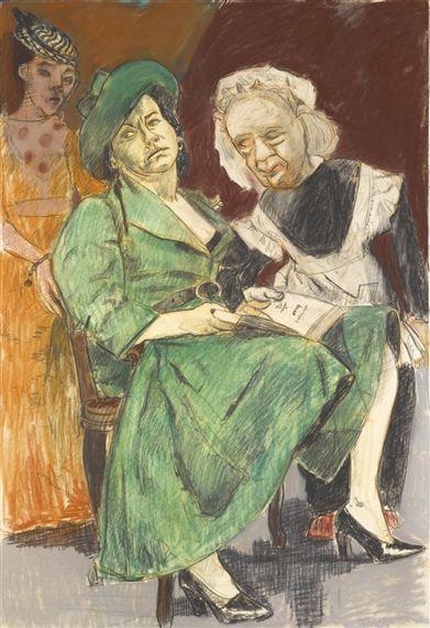 Paula Rego - GIRL READING, 1935, pastel, conté and... on MutualArt.com