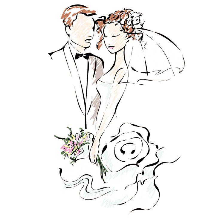 Векторный клипарт на свадебные открытки