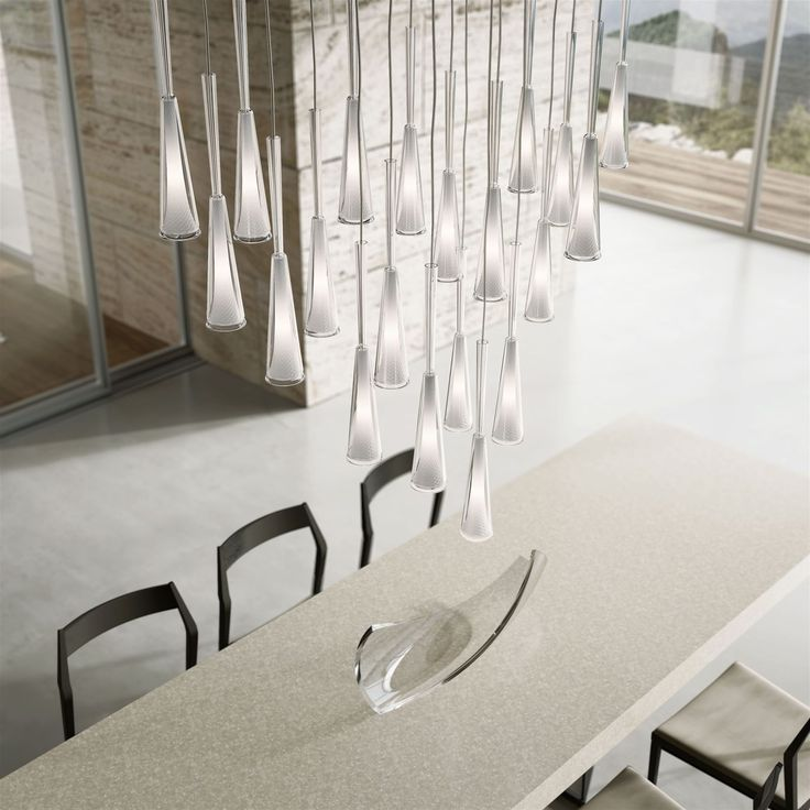 Classical technology in a modern interpretation. The beauty of light is shown in the contrast between contemporary moulded glass on the outside and traditional cut glass on the inside. The piece's transparency and simplicity guarantee a timeless experience. Designed by Jaroslav Bejvl jr. #lighting #interior #design #crystal #collections #jaroslavbejvl #craftsmanship #bohemian #glass